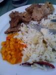 finished dinner.
