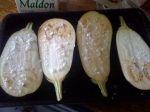 salted aubergine